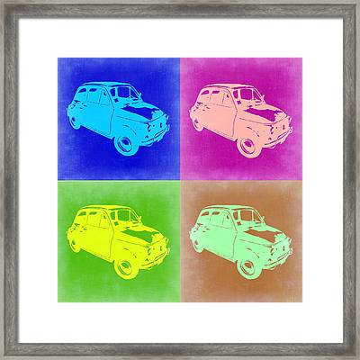 Fiat 500 Pop Art 2 Framed Print by Naxart Studio