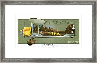 Fiat C.r. 42 Framed Print by Kenneth De Tore