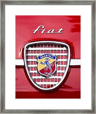 Fiat Emblem 2 Framed Print by Jill Reger