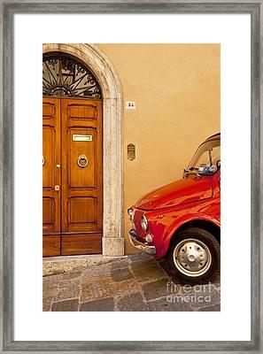 Fiat Parking Framed Print by Brian Jannsen
