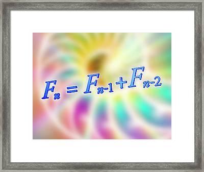 Fibonacci Sequence Equation Framed Print by Alfred Pasieka