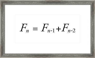 Fibonacci Sequence Equation Framed Print by Science Photo Library