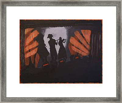 Fiddle Dee Dee Framed Print by Mary Ely