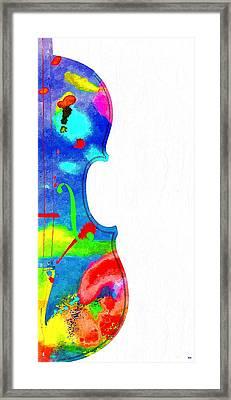 Fiddle Grunge Framed Print by Daniel Janda