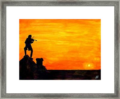 Fiddler On The Roof Framed Print by Nieve Andrea