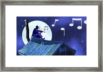 Fiddler On The Roof Framed Print by Steve Dininno