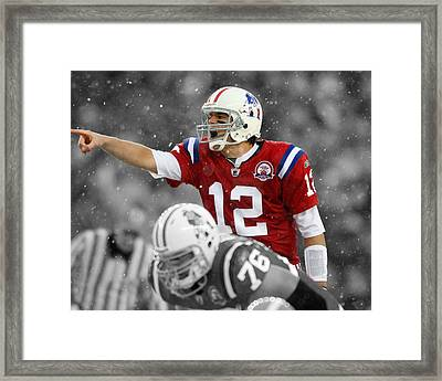 Field General Tom Brady  Framed Print by Brian Reaves