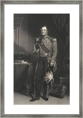 Field Marshal Lord Raglan Framed Print by F. Grant