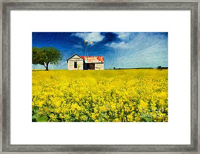 Field Of Dreams Framed Print by Betty LaRue