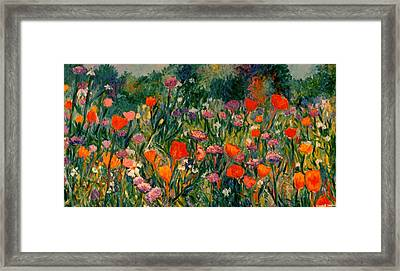 Field Of Flowers Framed Print by Kendall Kessler