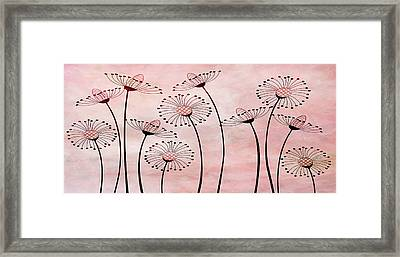 Field Of Flowers Within 3 Framed Print by Angelina Vick