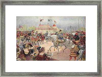 Field Of The Cloth Of Gold Framed Print by Albert Robida