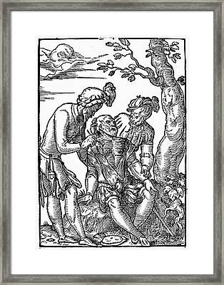 Field Surgeon, 1547 Framed Print by Granger