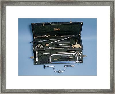 Field Surgeon's Set Framed Print by Science Photo Library