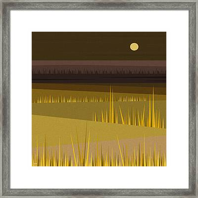 Fields Framed Print by Val Arie