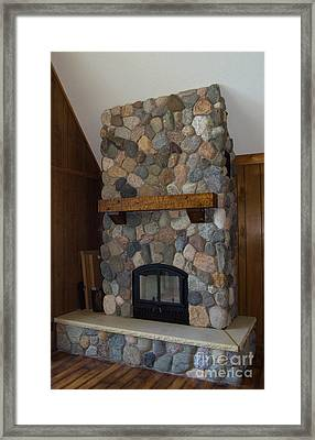 Fieldstone Remodel Framed Print by The Stone Age