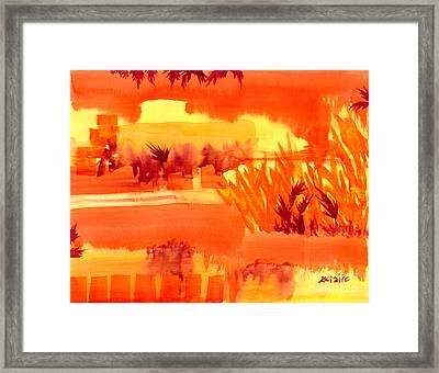 Fiery Autumn Field Framed Print by Beverly Claire Kaiya