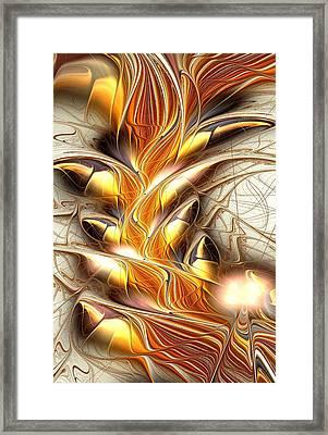 Fiery Claws Framed Print by Anastasiya Malakhova