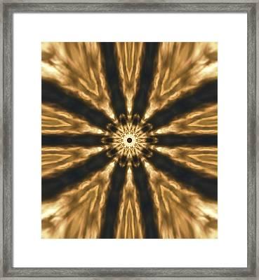 Fiery Explosion Framed Print by Dan Sproul