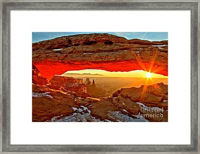 Fiery Morning Framed Print by Adam Jewell