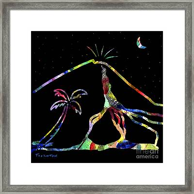 Lava Flow Framed Print by Diane Thornton