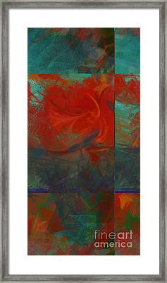 Fiery Whirlwind Onset Framed Print by CR Leyland