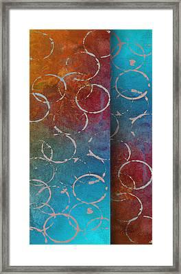 Fiesta -abstract -art Framed Print by Ann Powell