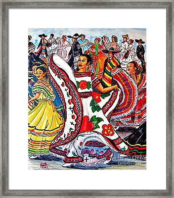 Fiesta Parade Framed Print by Marilyn Smith
