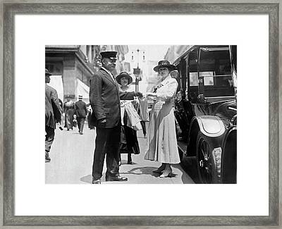 Fifth Avenue War Fund Drive Framed Print by Underwood Archives