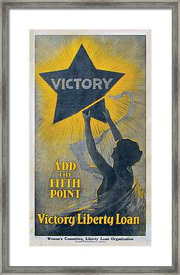 Fifth Point Victory Framed Print by G