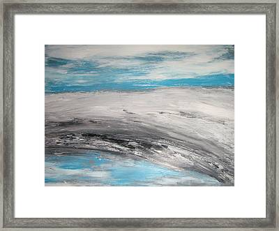 Fifthy Shades Of Grey Framed Print by Margarete M Kedl