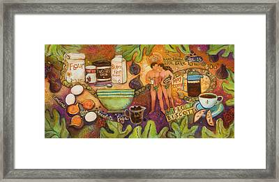 Fig Biscotti Recipe Framed Print by Jen Norton