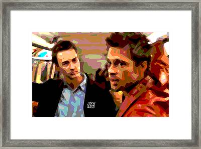 Fight Club 2 Framed Print by Douglas Simonson