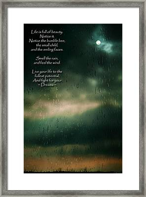 Fight For Your Dreams Framed Print by Jordan Blackstone
