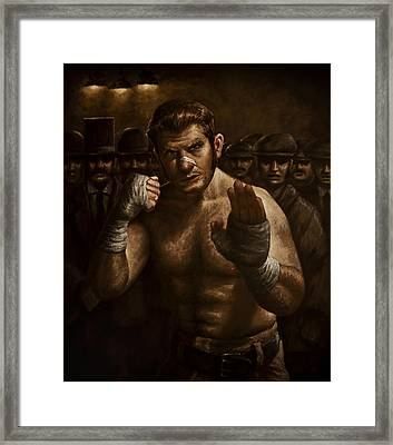 Fight Framed Print by Mark Zelmer