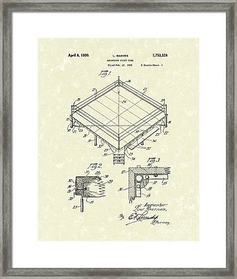 Fight Ring 1930 Patent Art Framed Print by Prior Art Design