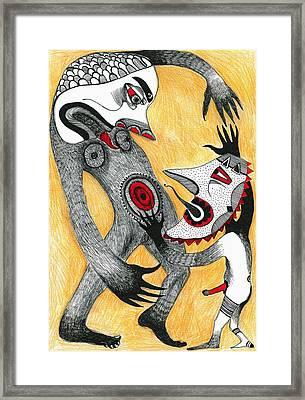 Fight Framed Print by Sabina Nedelcheva-Williams