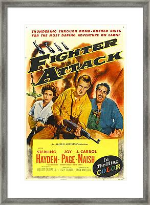 Fighter Attack, Us Poster, From Left Framed Print by Everett