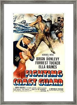 Fighting Coast Guard, Us Poster Framed Print by Everett