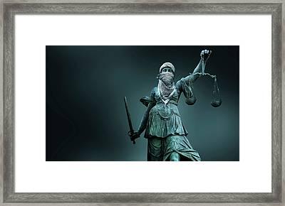 Fighting For Justice Framed Print by Smetek
