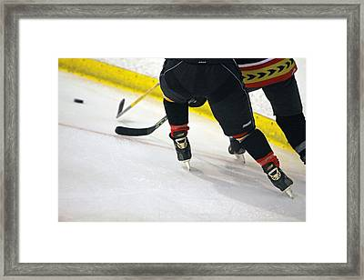 Fighting For The Puck Framed Print by Shoal Hollingsworth