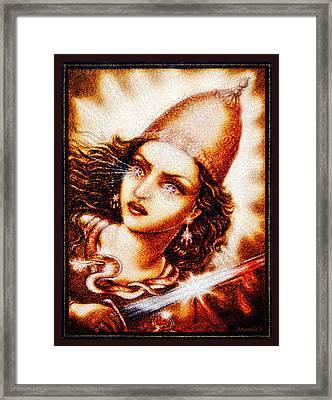 Fighting Goddess 2 Framed Print by Ananda Vdovic