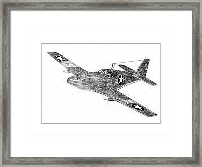 Fighting P 51 Framed Print by Jack Pumphrey