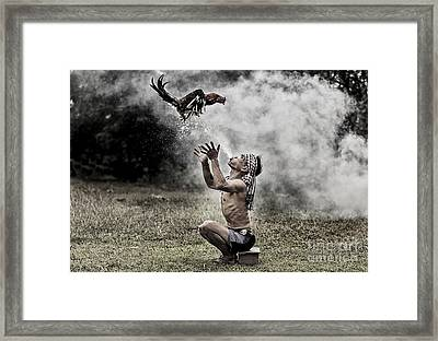Fighting Trainer Framed Print by Sasin Tipchai