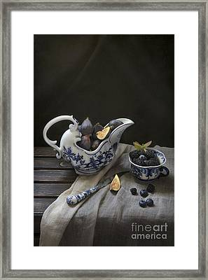 Figs And Berries Framed Print by Elena Nosyreva