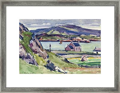 Figure And Kirk   Iona Framed Print by Francis Campbell Boileau Cadell