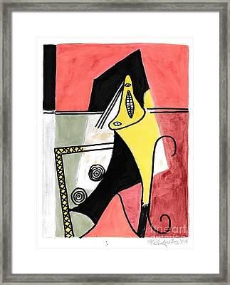 Figure Framed Print by P J Lewis