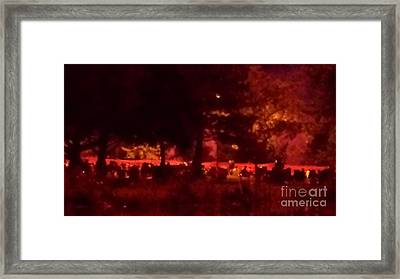 Figures By The Lake Framed Print by Paddy Shaffer