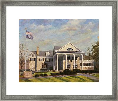 Fiji Fraternity House Iu Indiana University Framed Print by Steve Haigh