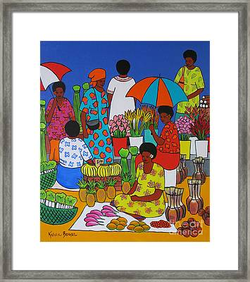 Fiji Market Framed Print by Karen Bower